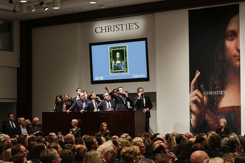 Leonardo da Vinci's Salvator Mundi sells for record-breaking $400m