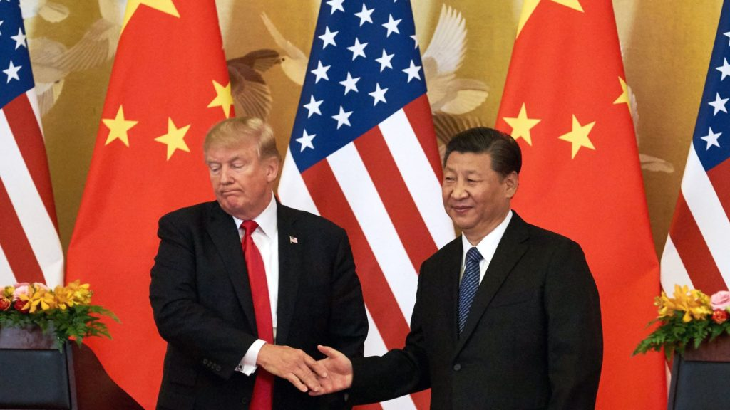 Trump and Xi Shaking Hands